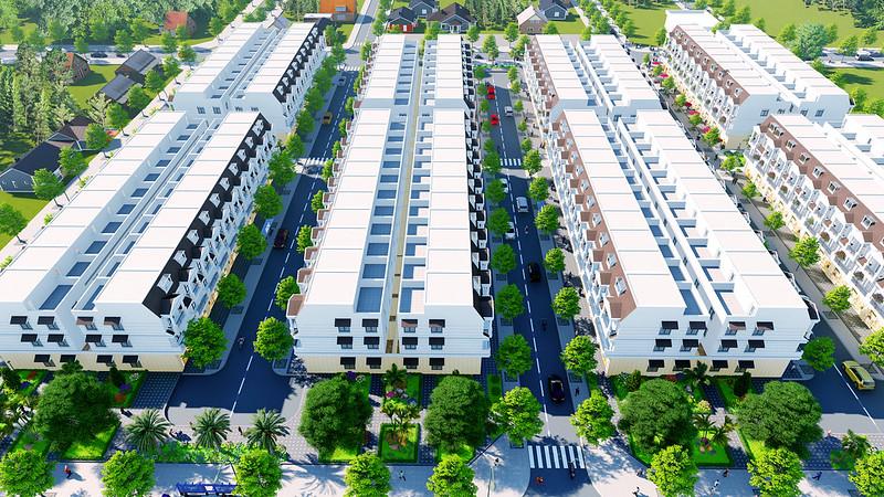 Phối cảnh 2 dự án DTA Garden House VSIP Bắc Ninh