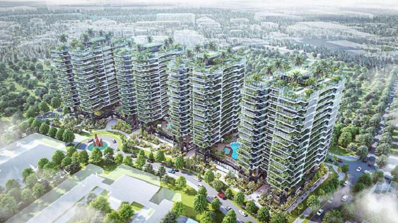 Phối cảnh 2 dự án Sunshine Green Iconic Long Biên