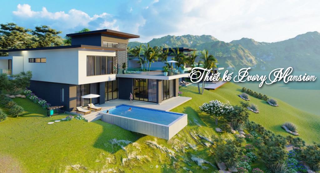 Phối cảnh biệt thự Ivory Villas & Resort Lương Sơn - Hòa Bình