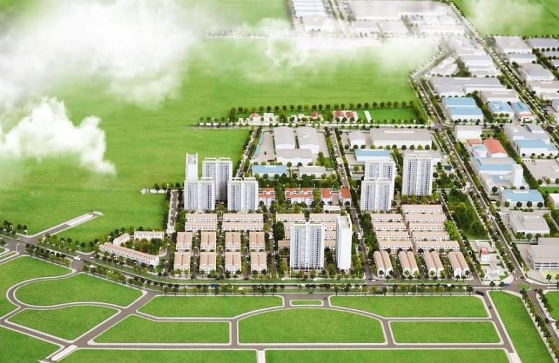 Phối cảnh tổng thể dự án DTA Garden House VSIP Bắc Ninh