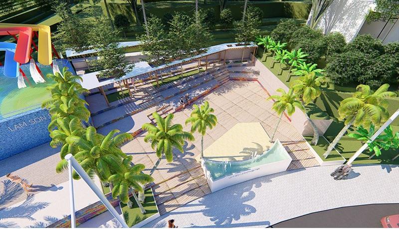 Quảng trường gió Ivory Villas & Resort Lương Sơn - Hòa Bình