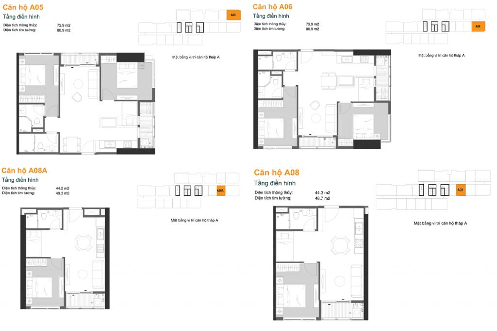 Thiết kế căn hộ A05-06-08A-08 dự án chung cư The Ruby Hạ Long MBLand