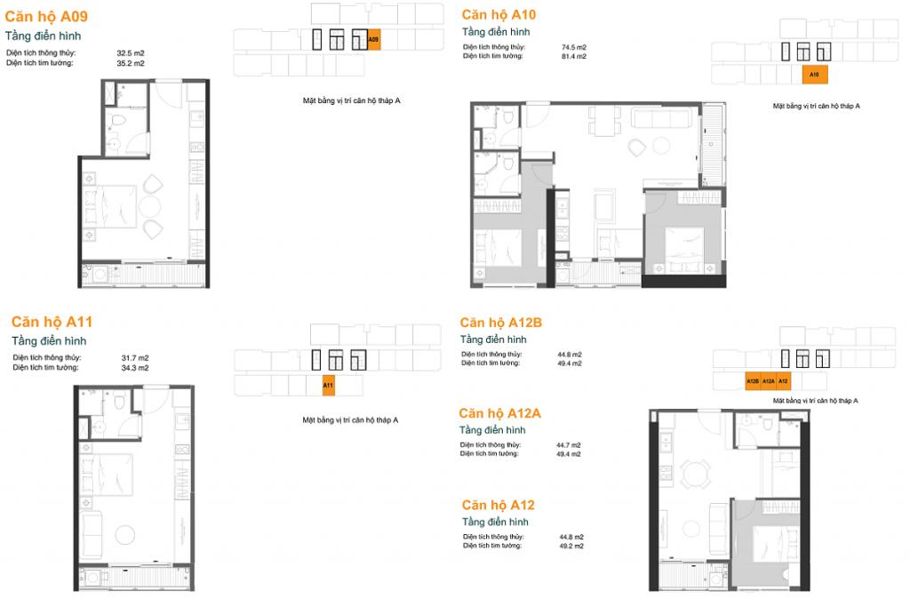 Thiết kế căn hộ A09-10-11-12-12A-12B dự án chung cư The Ruby Hạ Long MBLand