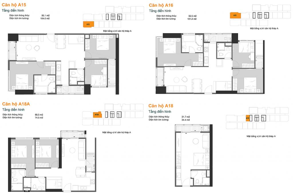 Thiết kế căn hộ A15-16-18A-18 dự án chung cư The Ruby Hạ Long MBLand