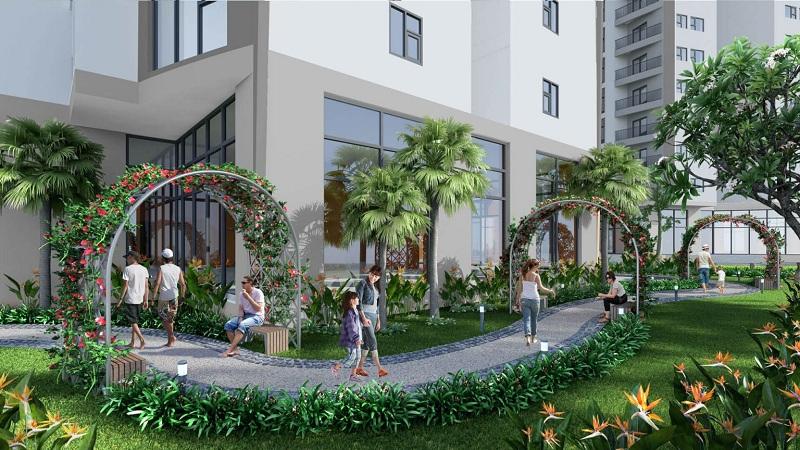 Vườn cây xanh Berriver Jardin 390 Nguyễn Văn Cừ - BRG Group