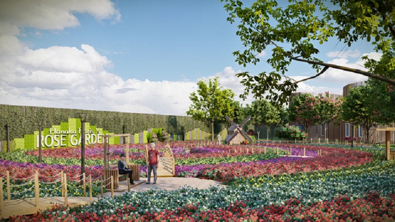 Vườn hoa Hanaka Paris Ocean Park Từ Sơn - Bắc Ninh
