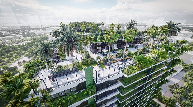 Vườn trên mái Sunshine Green Iconic Long Biên