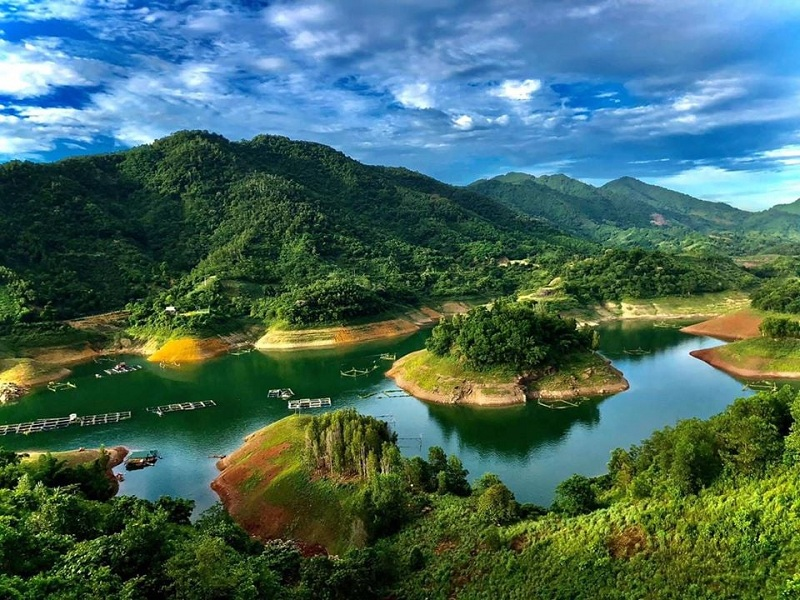 Ảnh Flycam 2 Hồ Hòa Bình ParaHills Resort