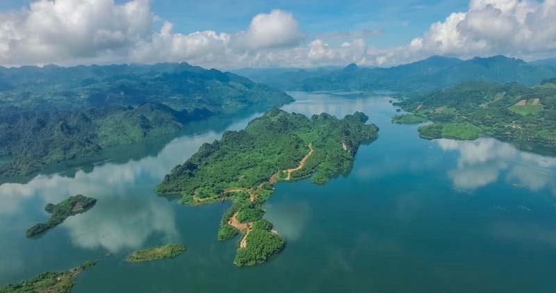 Ảnh Flycam Hồ Hòa Bình ParaHills Resort