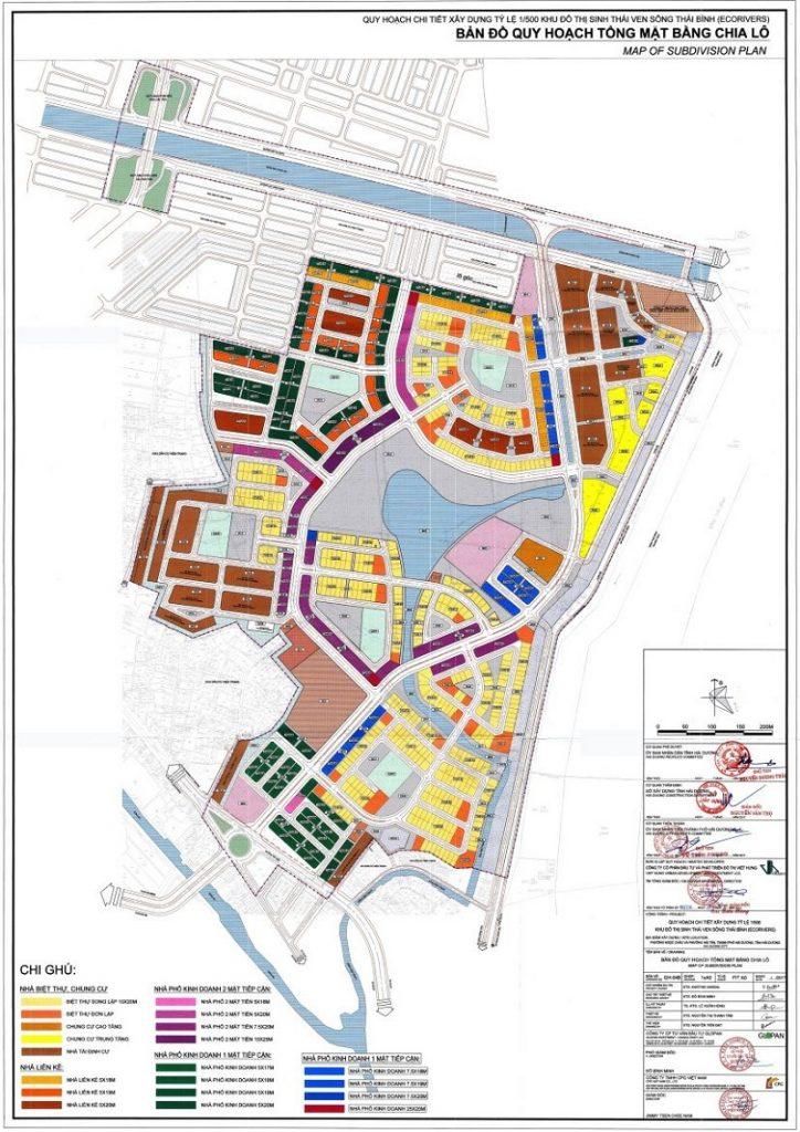 Bản đồ quy hoạch Ecoriver Hải Dương (Ecopark)