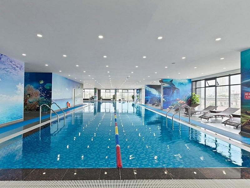 Bể bơi bốn mùa tòa Diamond dự án TNR Goldmark City 136 Hồ Tùng Mậu