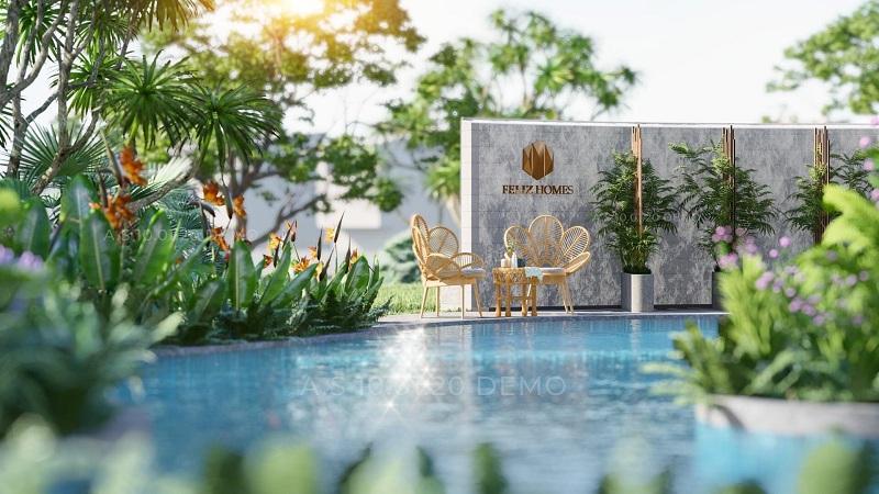 Bể bơi dự án Feliz Homes Đền Lừ - Hoàng Mai
