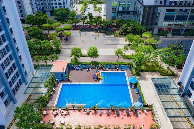 Bể bơi ngoài trời dự án TNR Goldmark City 136 Hồ Tùng Mậu