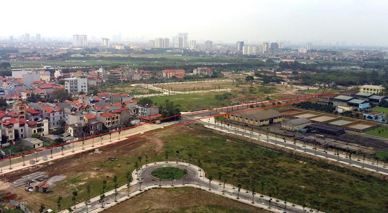 Các tuyến đường đang được mở rộng qua Khu Đấu Giá C14 Phúc Đồng - Long Biên 1