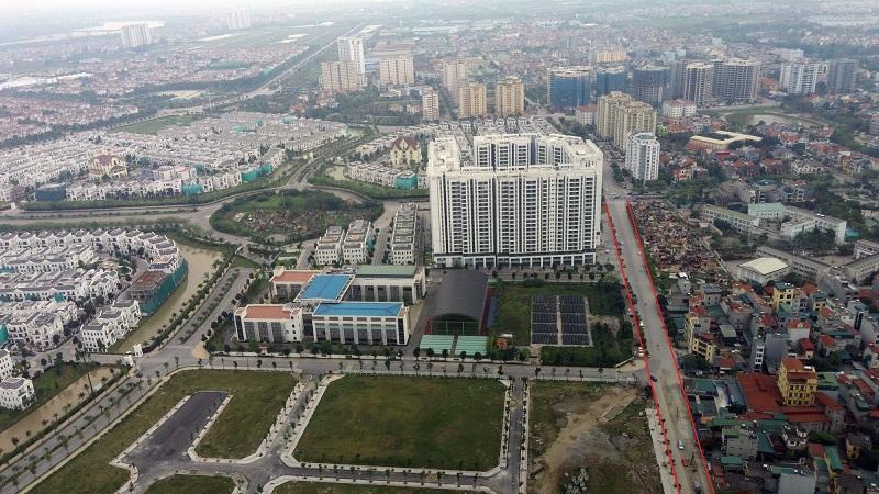 Các tuyến đường đang được mở rộng qua Khu Đấu Giá C14 Phúc Đồng - Long Biên 3