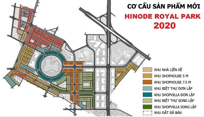 Cơ cấu sản phẩm Hinode Royal Park 2020