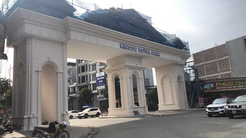 Cổng vào dự án Hinode Royal Park Kim Chung Di Trạch