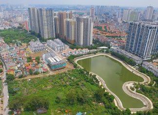 Flycam 2 thực tế dự án Hoàng Thành Villas Mỗ Lao