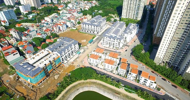 Flycam 3 thực tế dự án Hoàng Thành Villas Mỗ Lao