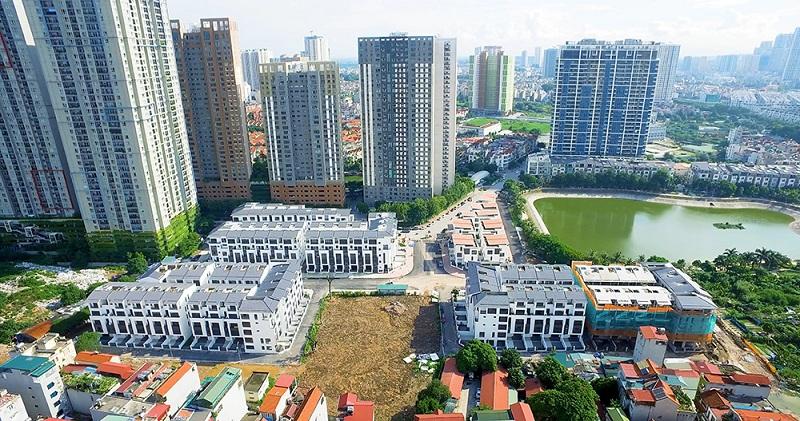 Flycam 4 thực tế dự án Hoàng Thành Villas Mỗ Lao