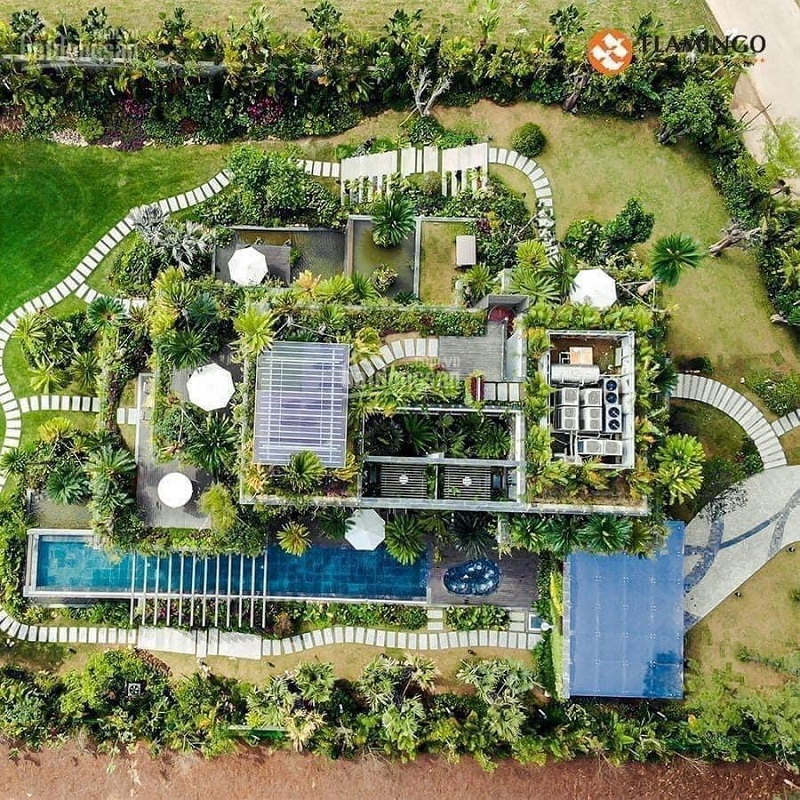Flycam dinh thự Legend Mansion Flamingo Đại Lải Resort