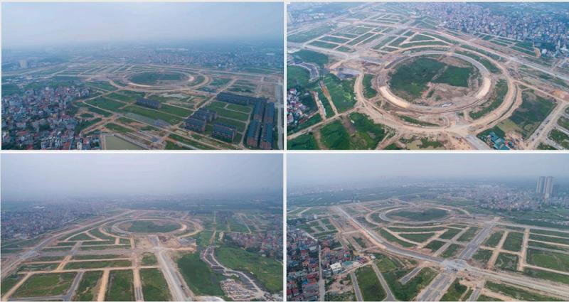 Flycam khu đô thị Hinode Royal Park Kim Chung - Di Trạch (Hoài Đức)
