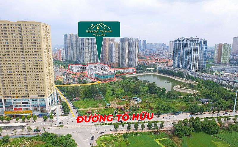 Flycam thực tế dự án Hoàng Thành Villas Mỗ Lao