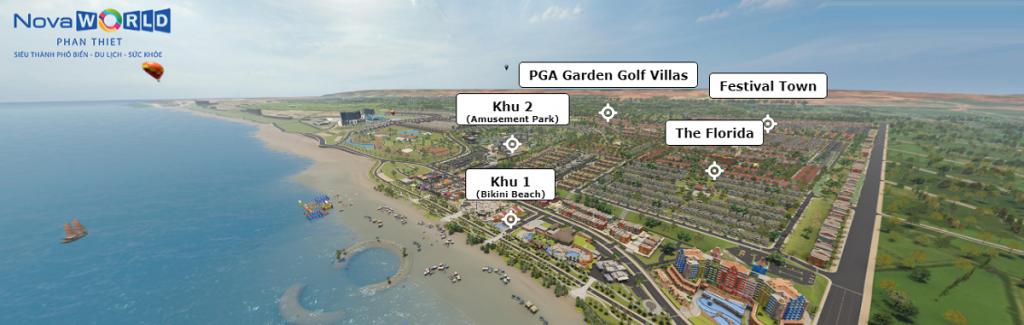 Flycam dự án Novaworld Phan Thiết - Bình Thuận