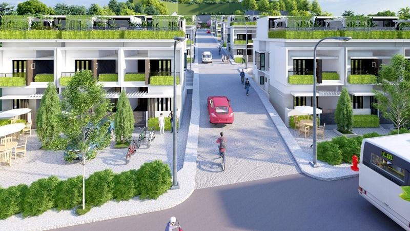 Giao thông dự án Hòa Lạc Charm Villas 36 lô Đồng Chằm - Đông Xuân