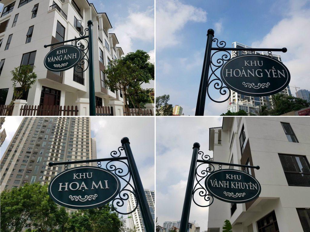 Hình ảnh thực tế 2 dự án Hoàng Thành Villas Mỗ Lao