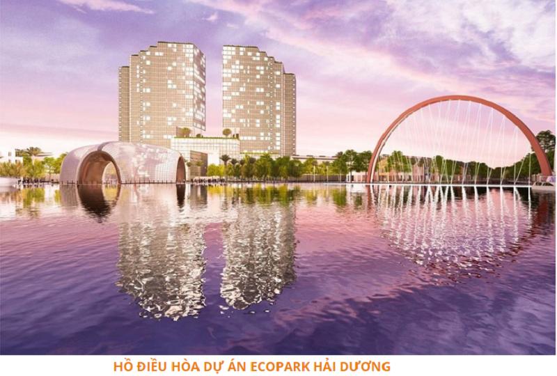 Hồ điều hòa dự án Ecoriver Hải Dương Ecopark