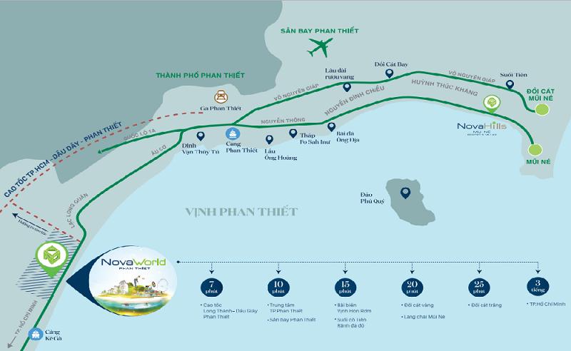 Kết nối dự án Novaworld Phan Thiết - Bình Thuận
