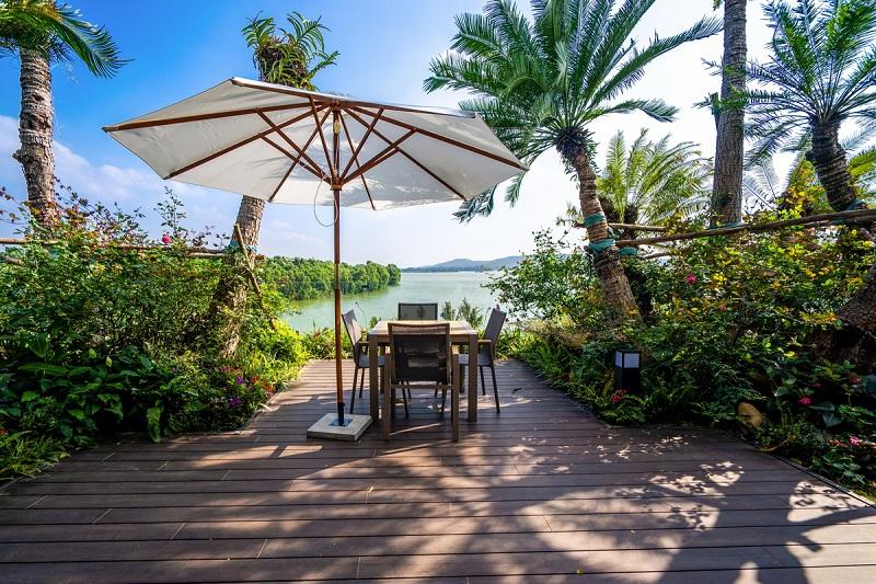 Không gian xanh dinh thự Legend Mansion Flamingo Đại Lải Resort