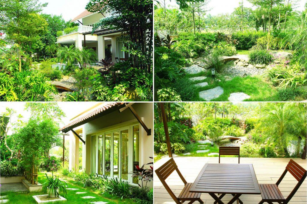 Không gian xanh biệt thự Xanh Villas Resort Hòa Lạc