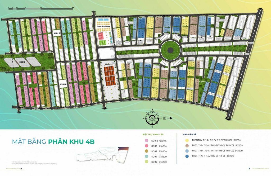 Mặt bằng phân khu Festival dự án Novaworld Phan Thiết - Bình Thuận
