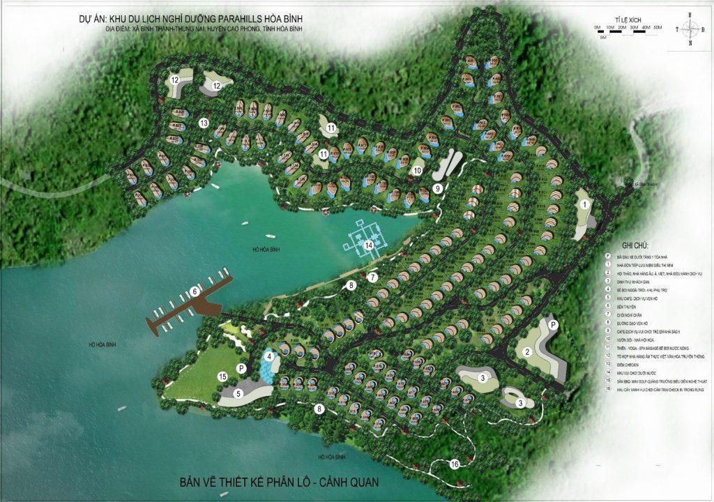 Mặt bằng phân lô ParaHills Resort Hòa Bình