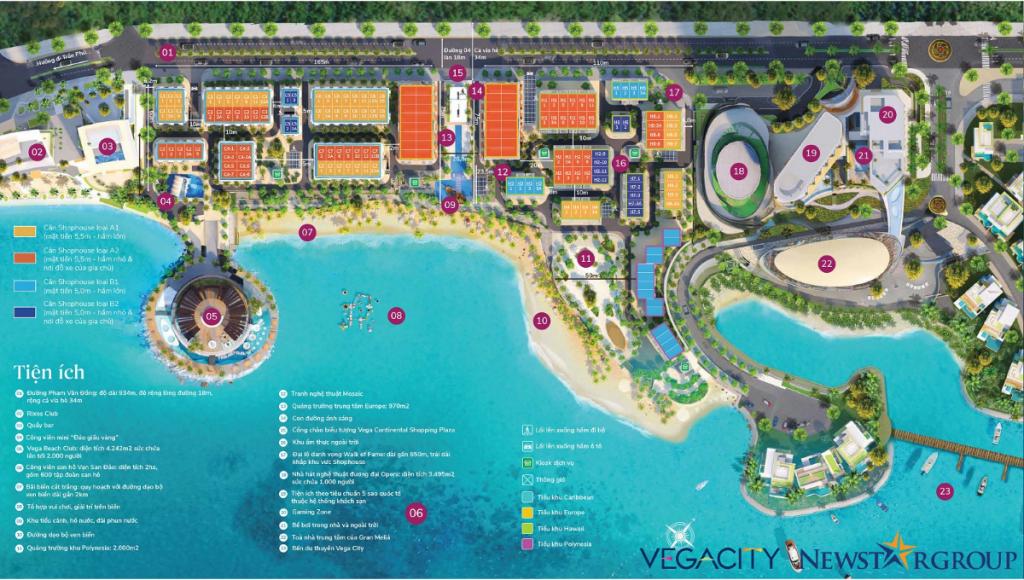 Mặt bằng shophouse Vega City Bãi Tiên - Nha Trang