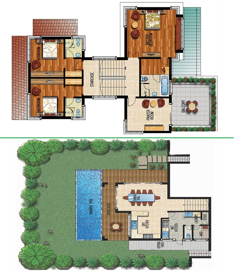 Mặt bằng thiết kế biệt thự Gallant Xanh Villas Resort Hòa Lạc