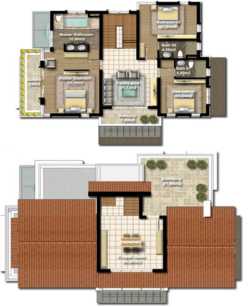 Mặt bằng thiết kế biệt thự Harmony Xanh Villas Resort Hòa Lạc