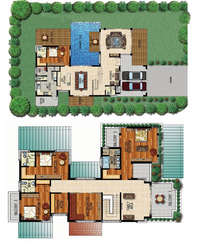 Mặt bằng thiết kế biệt thự Honour Xanh Villas Resort Hòa Lạc