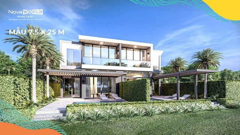 Mẫu biệt thự PGA Golf Villa 7,5x25m dự án Novaworld Phan Thiết - Bình Thuận