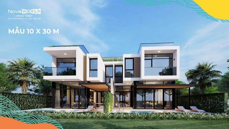 Mẫu biệt thự PGA Golf Villa 10x30m dự án Novaworld Phan Thiết - Bình Thuận