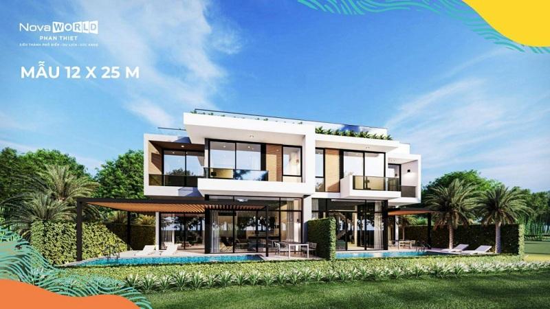 Mẫu biệt thự PGA Golf Villa 12x25m dự án Novaworld Phan Thiết - Bình Thuận