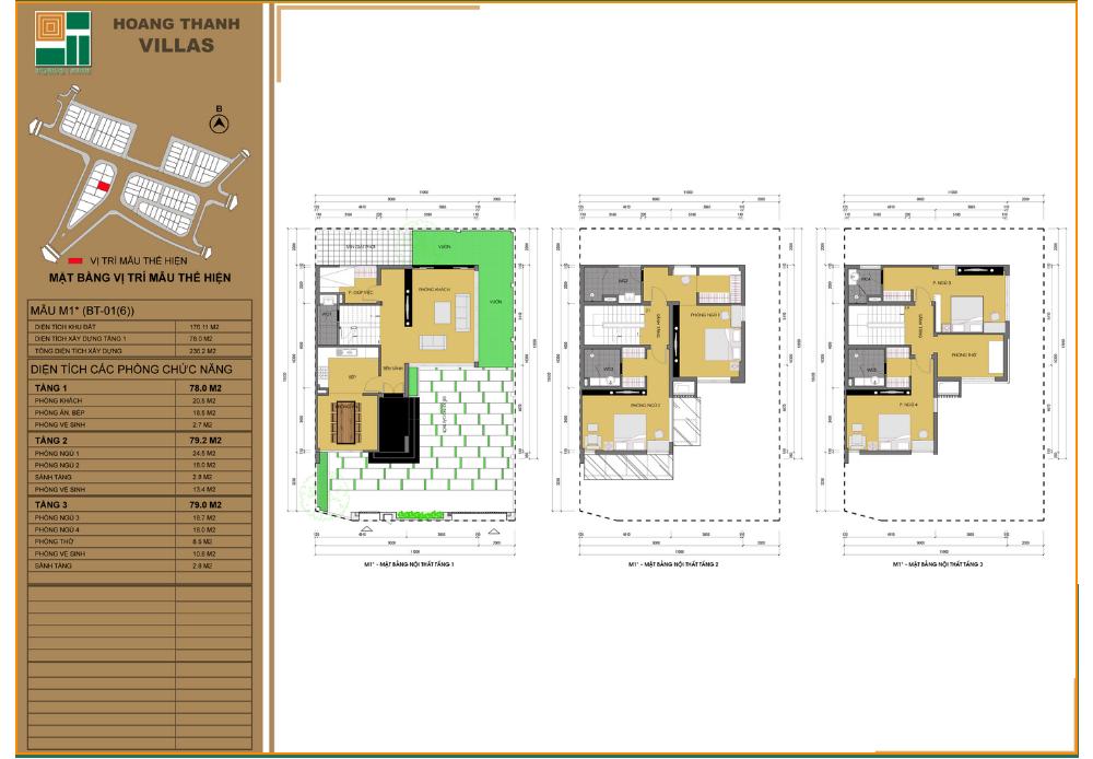 Mẫu thiết kế biệt thự dự án Hoàng Thành Villas Mỗ Lao
