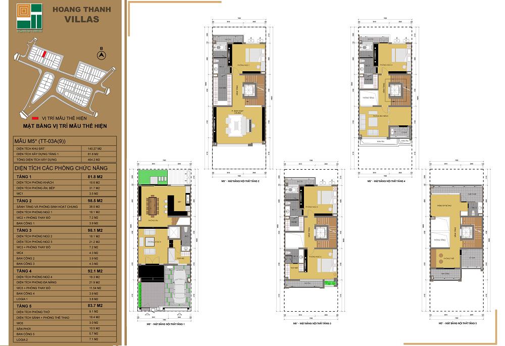 Mẫu thiết kế liền kề 1 dự án Hoàng Thành Villas Mỗ Lao