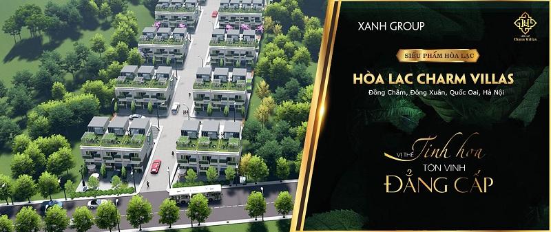 Mở bán dự án Hòa Lạc Charm Villas 36 lô Đồng Chằm - Đông Xuân