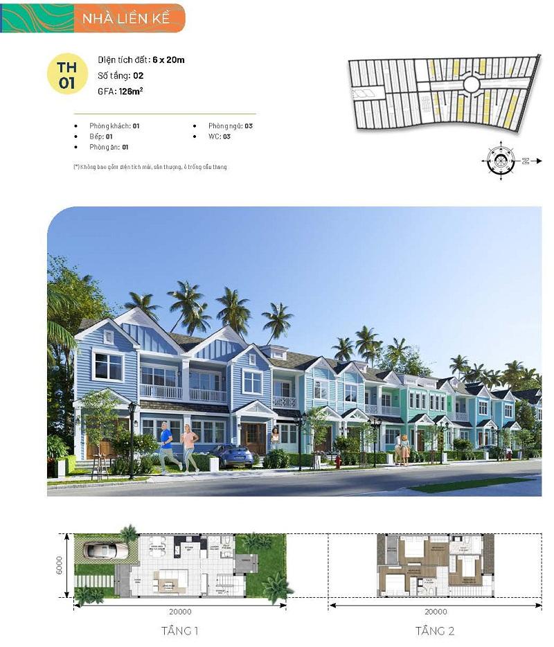 Nhà liền kề Townhouse phân khu Festival dự án Novaworld Phan Thiết - Bình Thuận