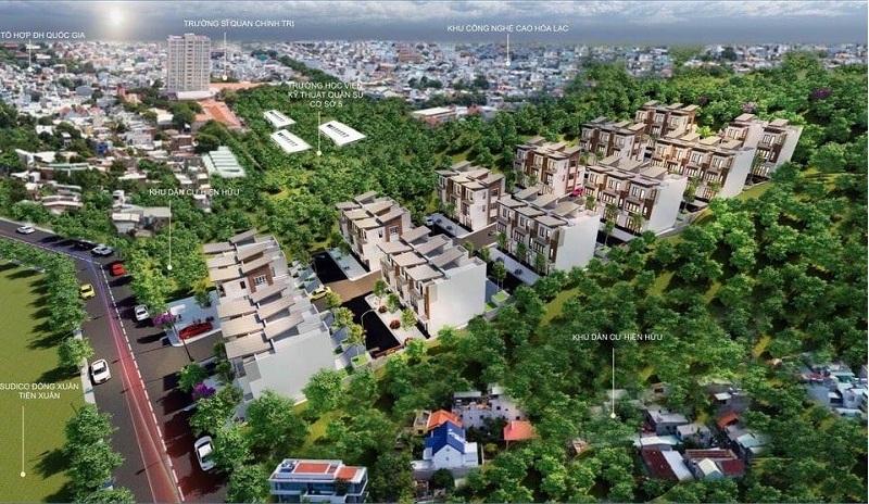 Phối cảnh 1 dự án Hòa Lạc Charm Villas 36 lô Đồng Chằm - Đông Xuân