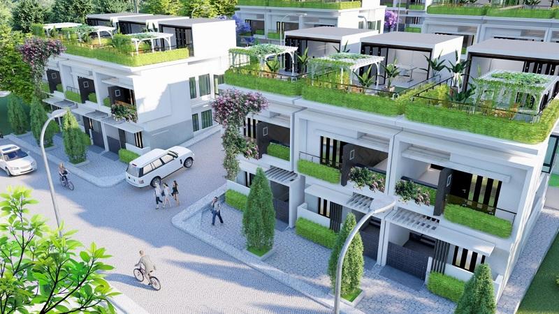 Phối cảnh 2 dự án Hòa Lạc Charm Villas 36 lô Đồng Chằm - Đông Xuân