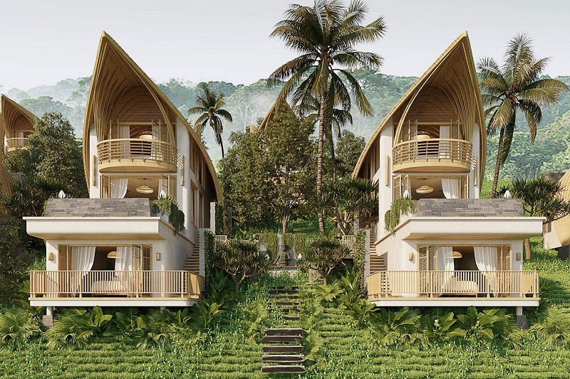 Phối cảnh 2 mẫu biệt thự thuyền ParaHills Resort Hòa Bình